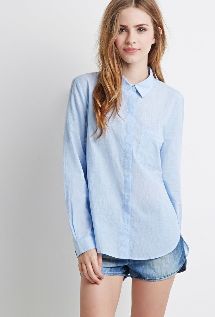 9d7ed7ecb0 Classic Striped Shirt | Forever 21 - 2000052225 | Women | Fashion ...