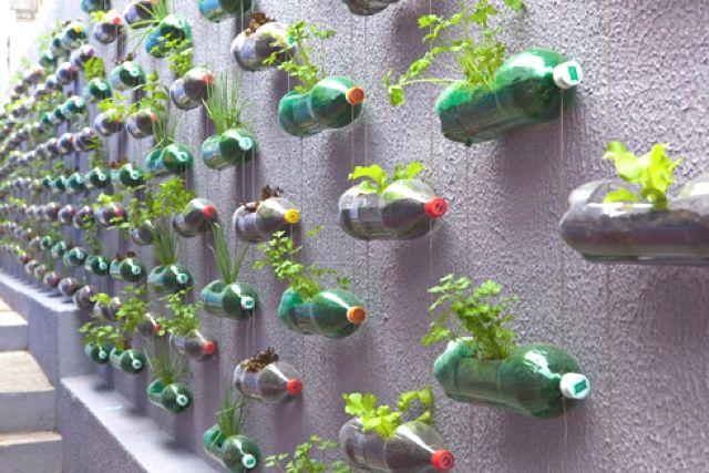 Recycling Idea Vertical Garden | Garden | Pinterest | Recycling ...