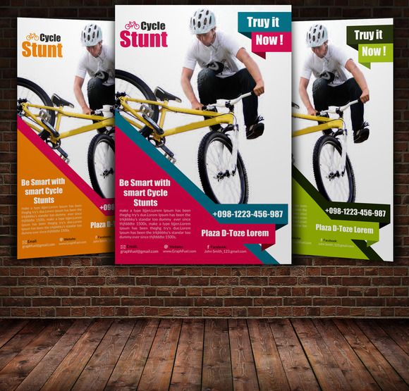 Bicycle Racing Flyer Template   Flyer template, Psd templates and ...