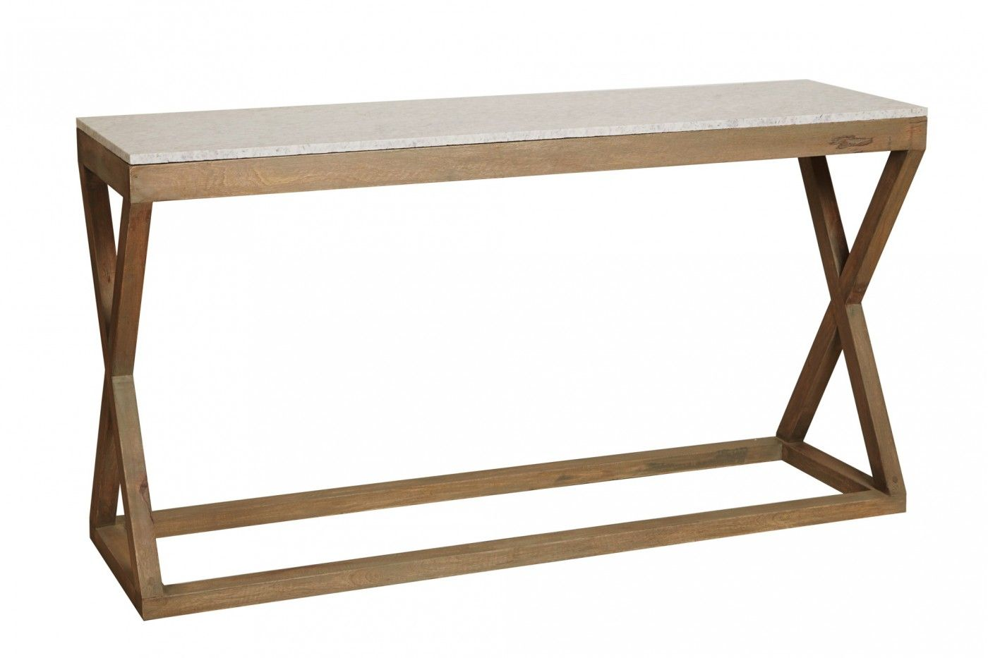 Defined by its linear cross leg design the maines polished cream 19 outstanding console table with marble top digital picture ideas geotapseo Choice Image