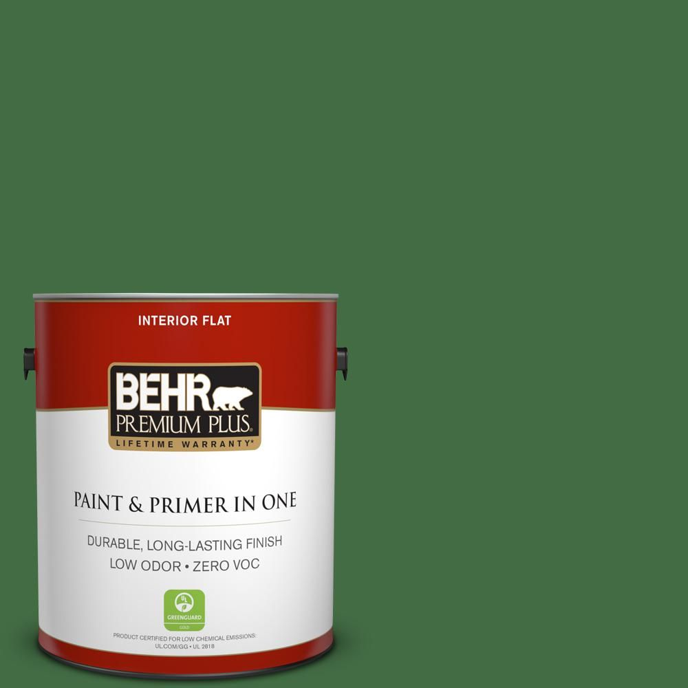 BEHR Premium Plus 1-gal. #440D-7 Vineyard Zero VOC Flat Interior Paint