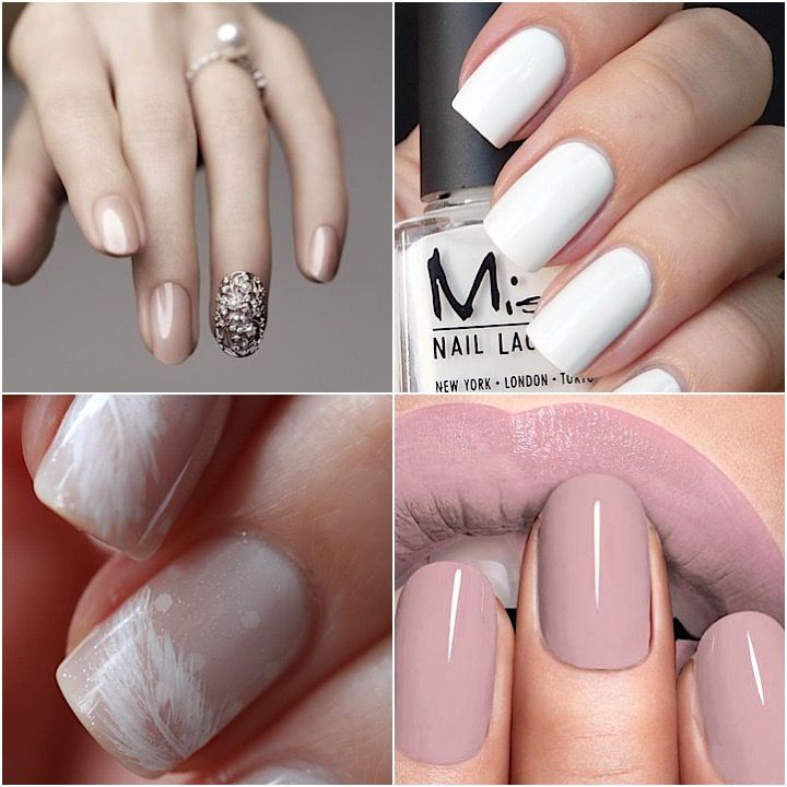 Trendy Neutral Wedding Nails To Try (With images ...