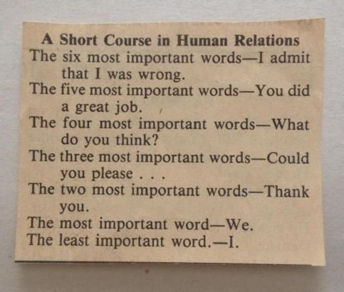 Curso rápido en relaciones humanas