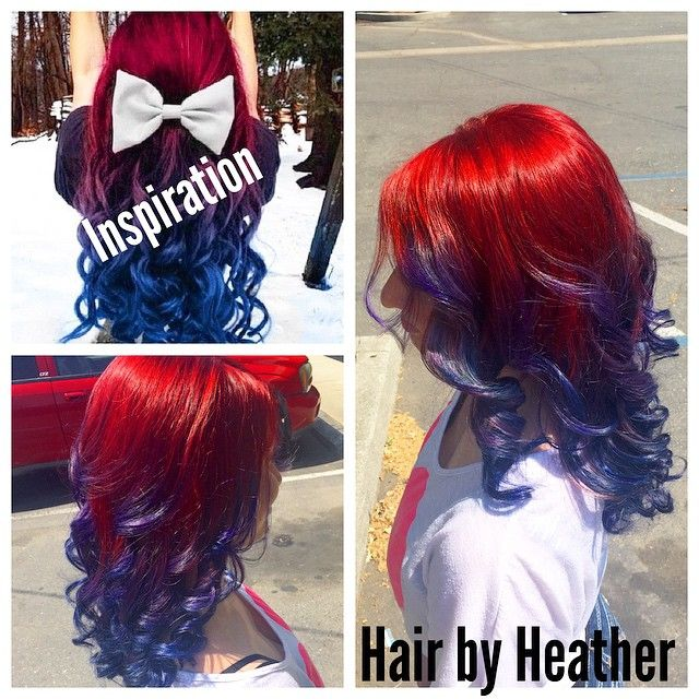 Red To Blue Ombre Hairstyle Using Joico Intensity Hair