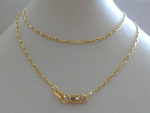 003fe4f1cfef6 18K Solid Gold Egyptian Chain 18ct, 750 Yellow White Egyptian ...