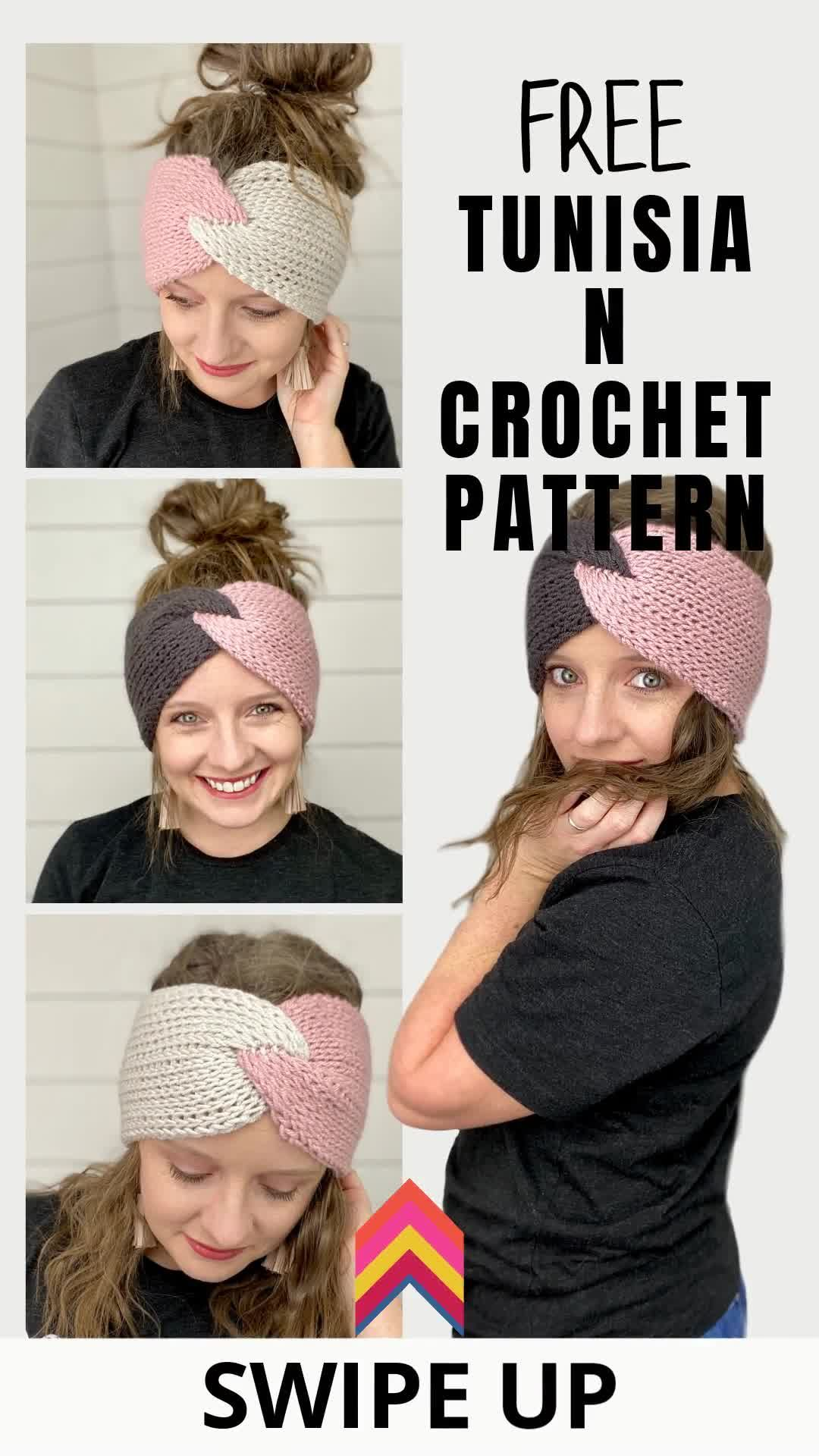 Photo of How To Make A Tunisian Crochet Twisted Headband- Free –