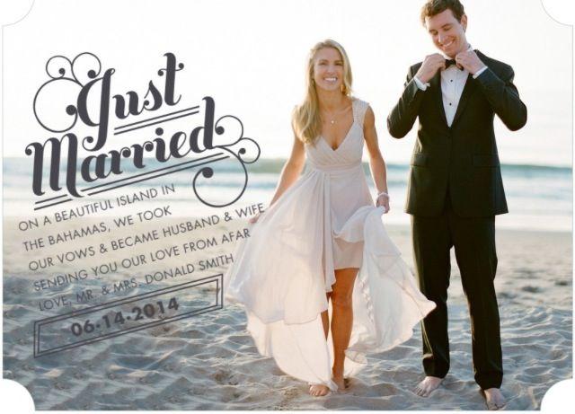 Very best Just married-elope-elopement- announcement | WEDDING | Pinterest  MY68