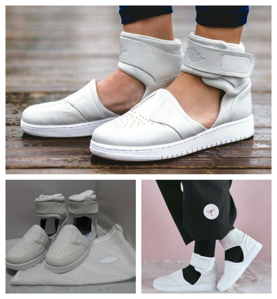 e8cb89e54dfa7 $130 Nike Woman's Sz 5.5 Air Jordan 1 Lover XX Shoe Off White AO1528 ...