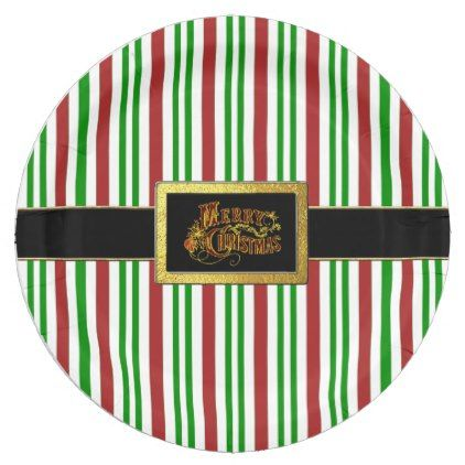 Santa\u0027s Belt Merry Christmas Candy Cane Paper Plate - merry christmas diy xmas present gift idea  sc 1 th 225 & Santa\u0027s Belt Merry Christmas Candy Cane Paper Plate - merry ...