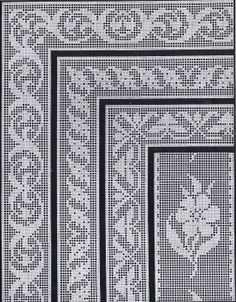 1900s Filet Crochet Cross Stitch Beadwork Patterns | Cora Kirchmaier #pillowedgingcrochet