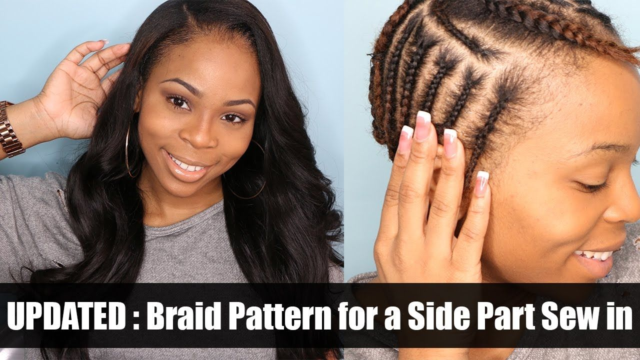 Exelent Sew In Side Part Braid Pattern Component - Great Sewing ...