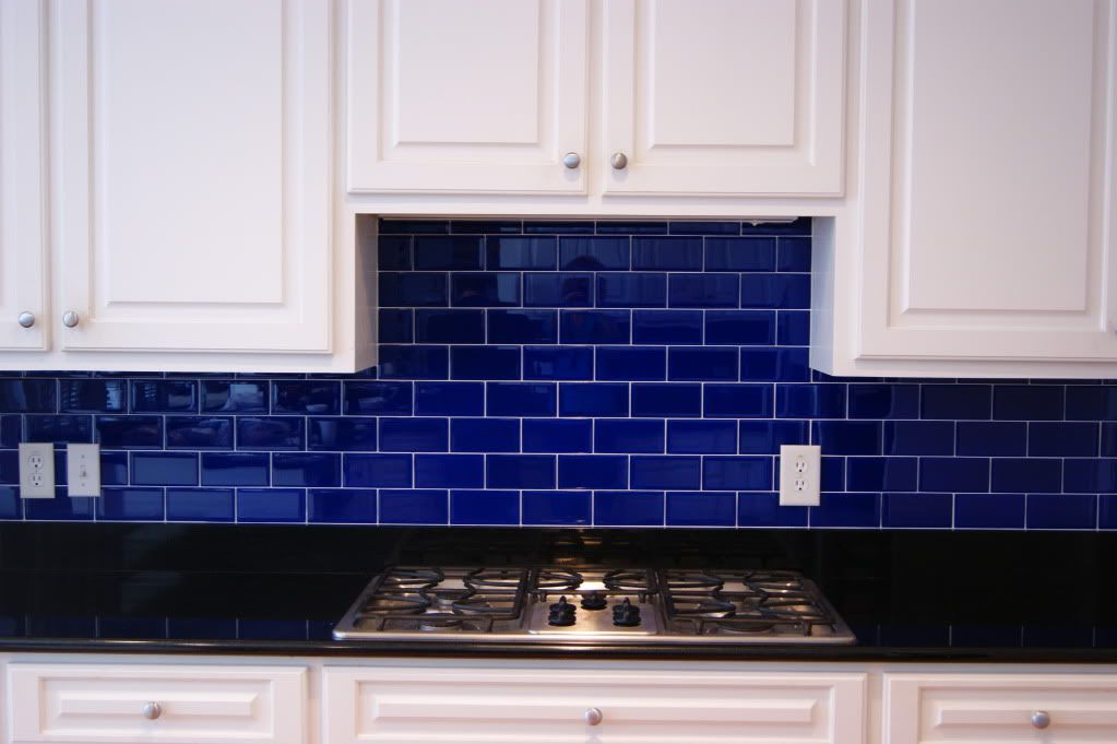 Backsplashes 1 Either In This Cobalt Blue Or A Nice Red Blue