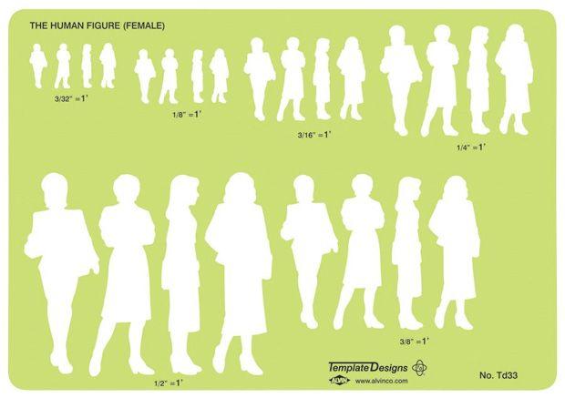 Female Human Figure Template Size 5 3 4 X 8 1 8 X 030 Human Figure Human Figure Drawing Drawing Templates