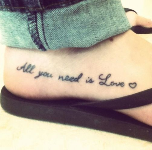 All You Need Is Love Heart Tattoo