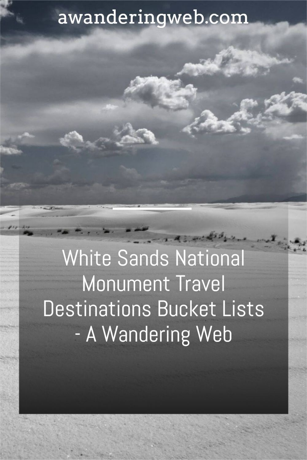 Photo of White Sands National Monument Travel Destinations Bucket Lis…
