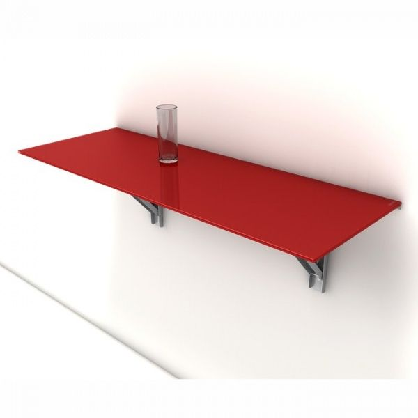 table murale rabattable d 39 appoint en verre vulcano. Black Bedroom Furniture Sets. Home Design Ideas