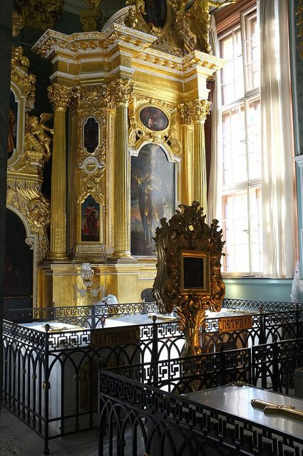 Peter and Paul Cathedral, Tomb of Catherine the Great and other Tsars, St Petersburg, Russia
