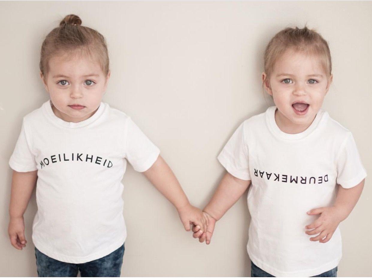 Maike & AlexaMae Von Schlicht wear DEURMEKAAR and MOEILIKHEID. To place your order visit www.mevrouandco.com.