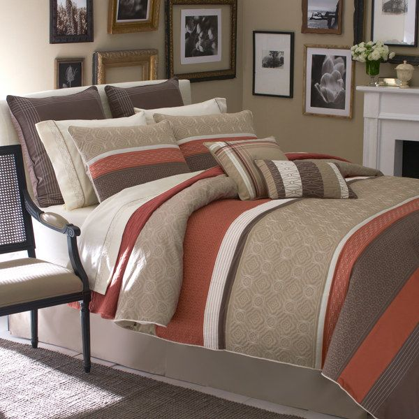 Clearance! A natural color palette of ivory, taupe, rust and ...
