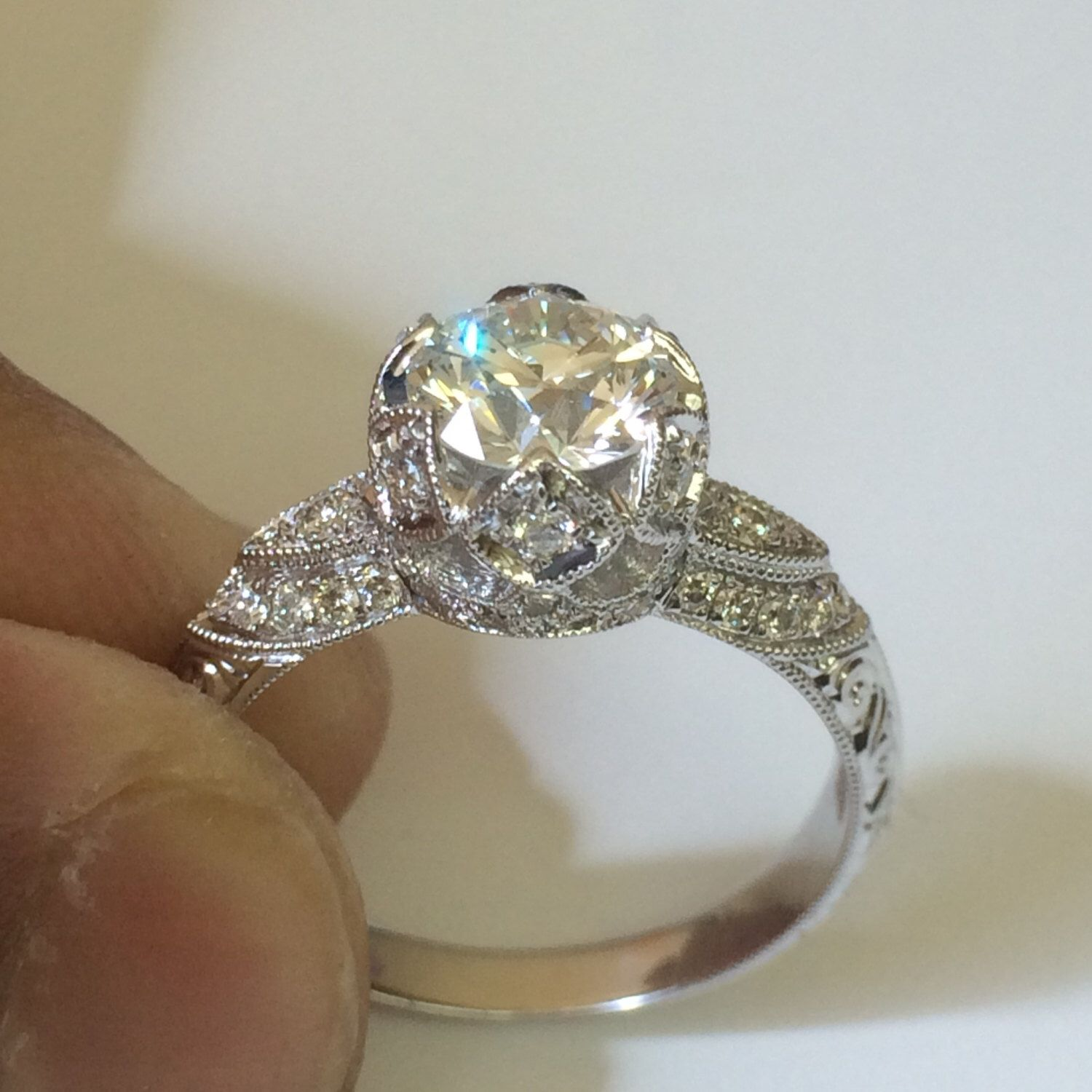 Platinum Forever One Engagement Ring Estate Fine Jewelry ...