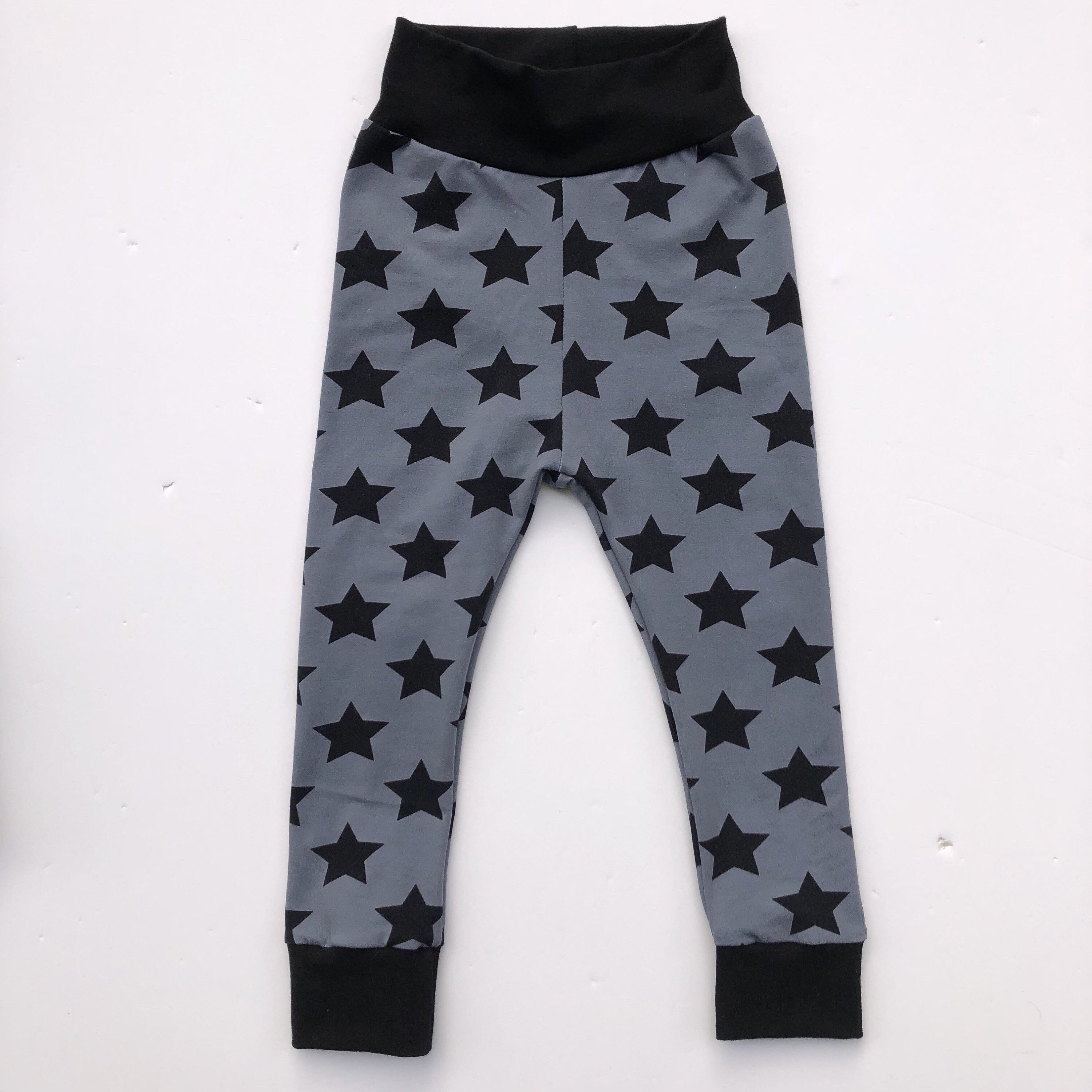 44141d29a Excited to share this item from my #etsy shop: Gray Star Shorties or  Leggings or Harems, Handmade Toddler leggings, unisex, Baby Toddler Kid