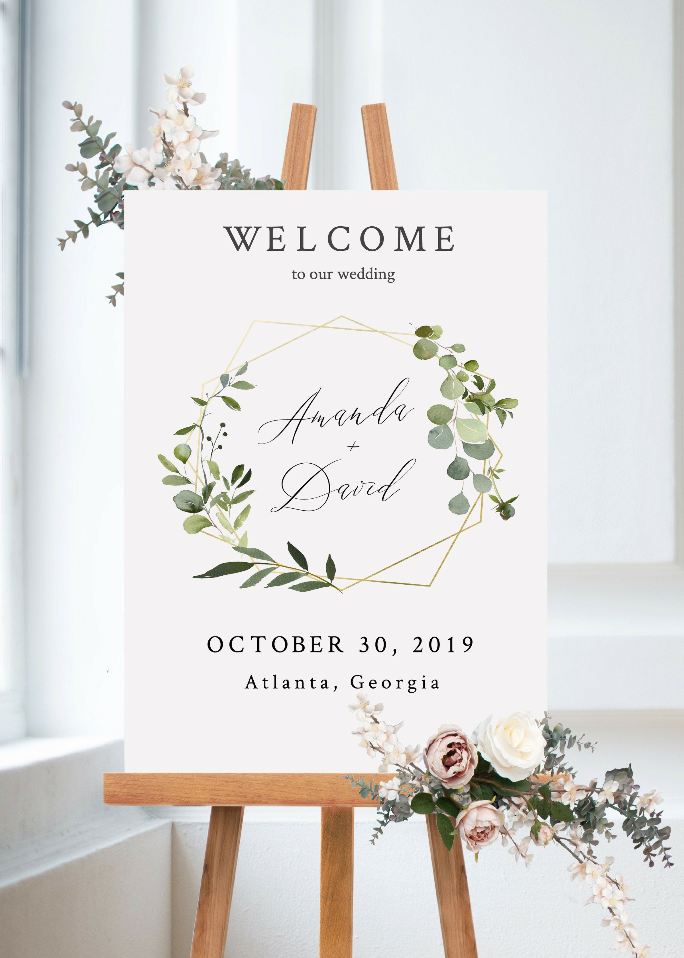 Kristina - Welcome #weddingwelcomesign