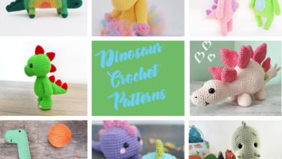 Dinosaur Crochet Patterns – For Your Dino Lover - A More Crafty Life #crochetdinosaurpatterns