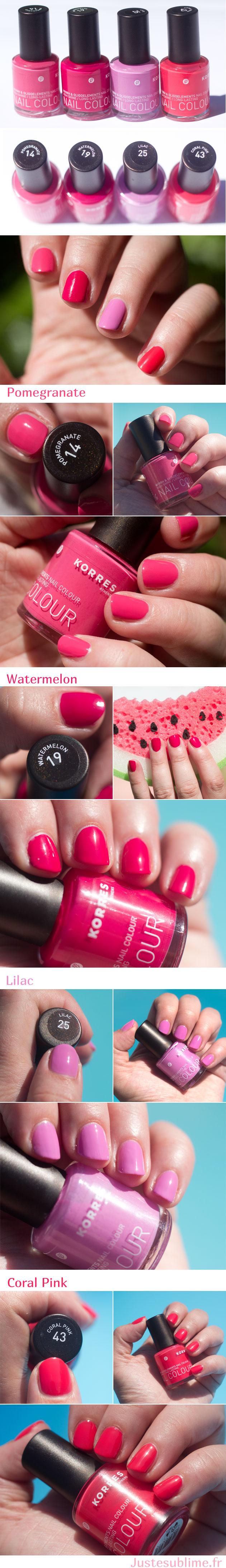 Korres nail polish: safe ingredients, wonderful colors!!! I am so ...