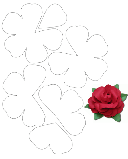 taller de fieltro desde cero patron5 flor3d paper flower templatesfree
