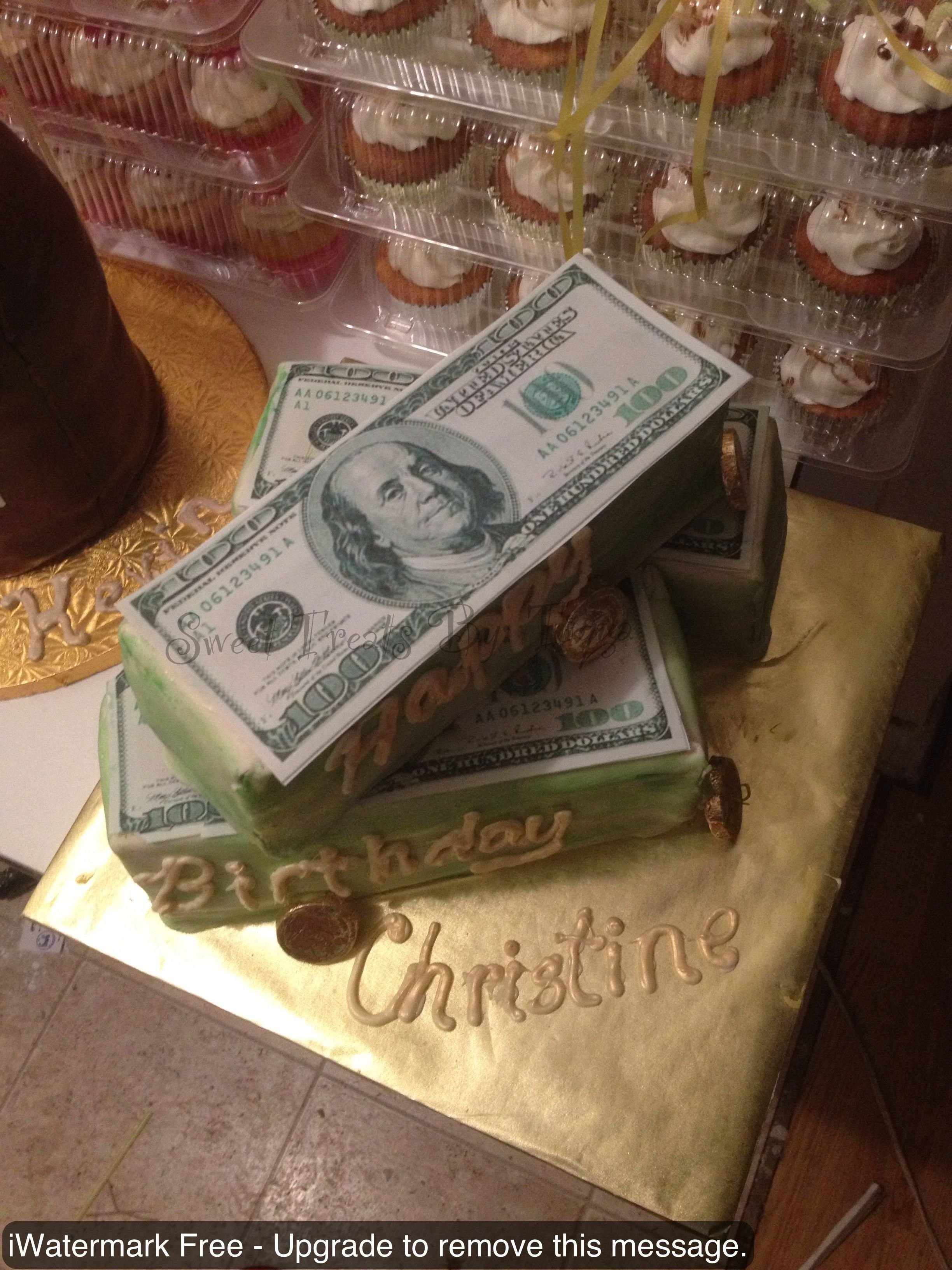 Done By yours Truly Money Birthday Cake Chocolate Cake covered