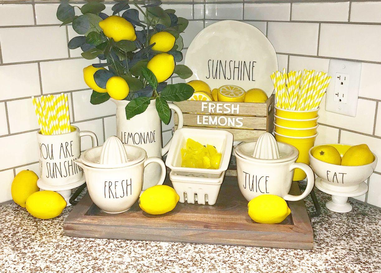 Rae Dunn Lemonade Target Dollar Spot In 2019 Lemon Kitchen