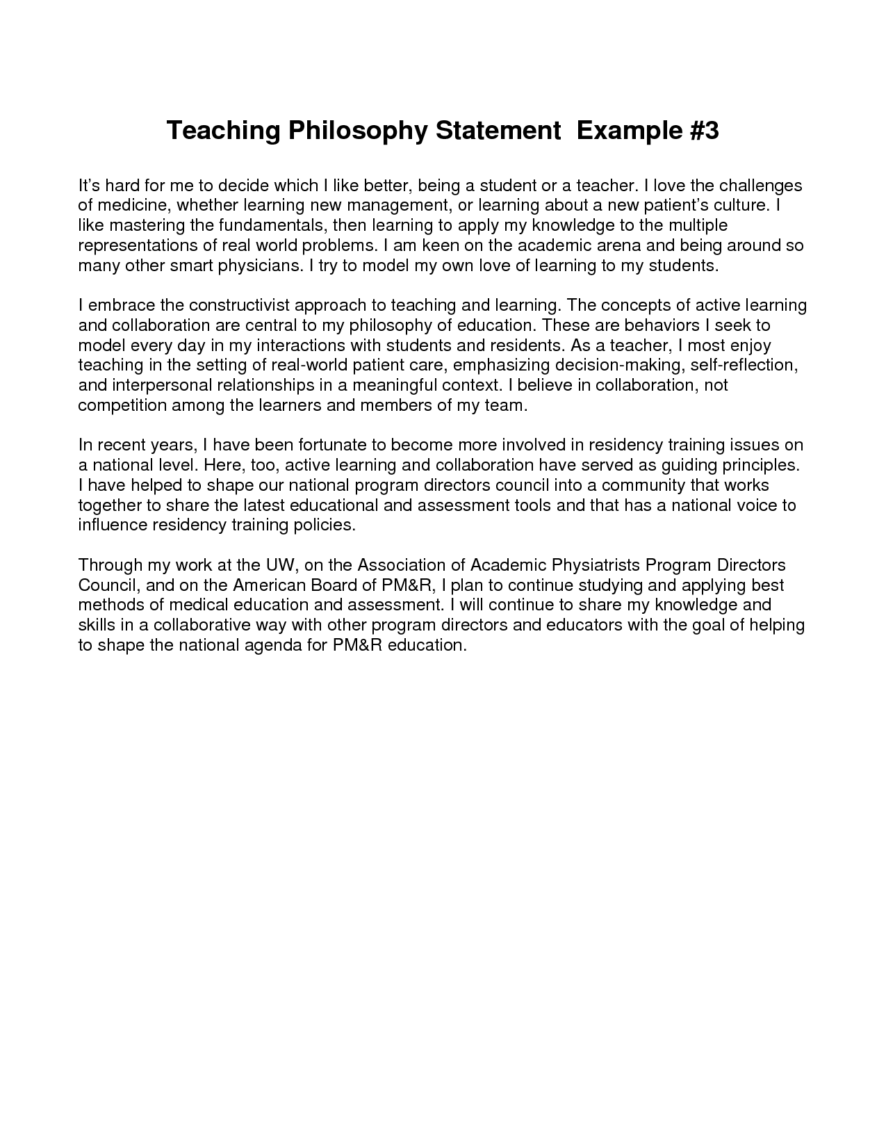 educational philosophy statement samples cda writing a philosophy of teaching statement ucat
