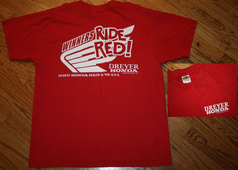 vintage honda winners ride red! dreyer indianapolis motorcycles t