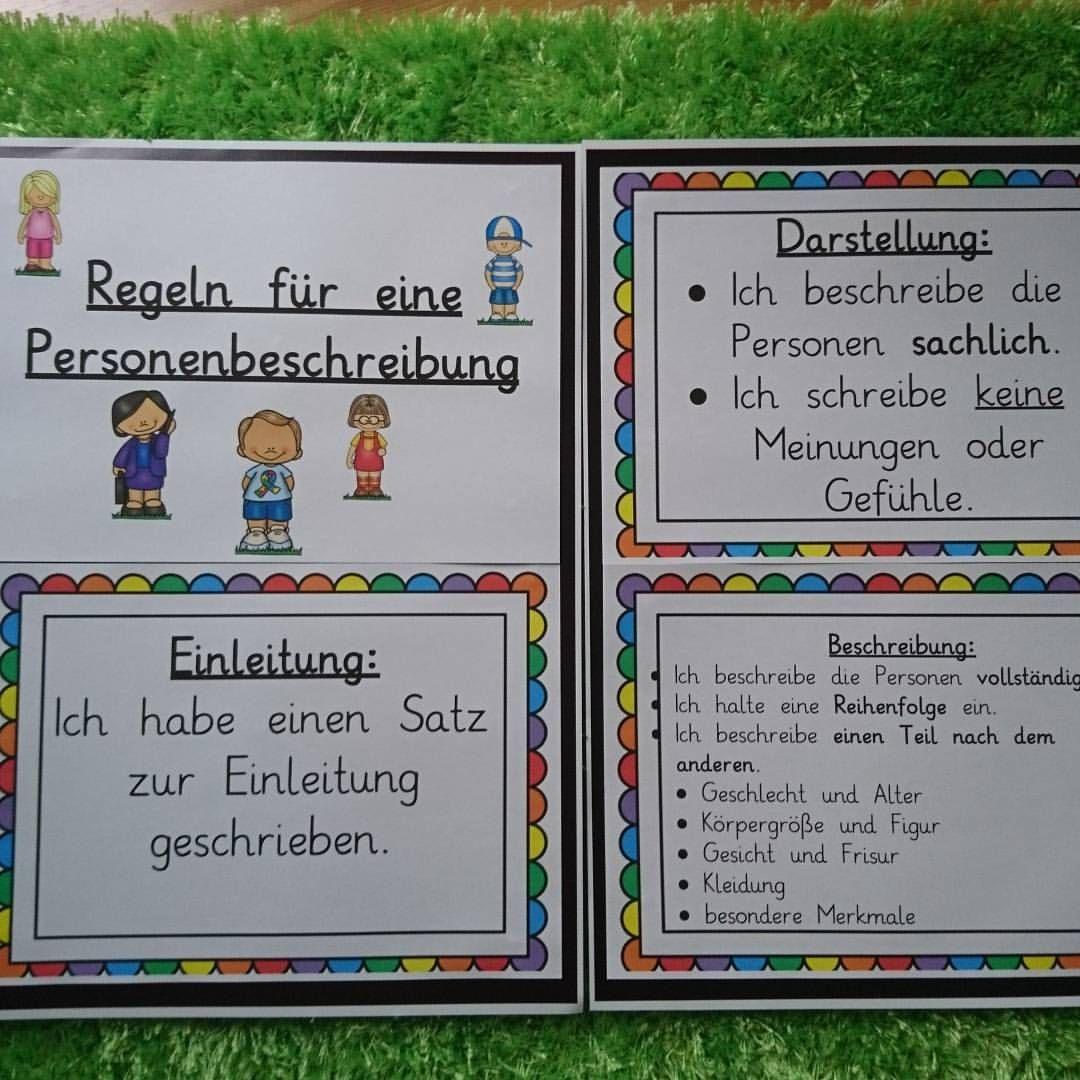 Mal Ein Paar Merkplakate Und Hilfen Zur Personenbeschreibung Erstellt Danke An Grundschul I Personenbeschreibung Grundschule Personenbeschreibung Grundschule