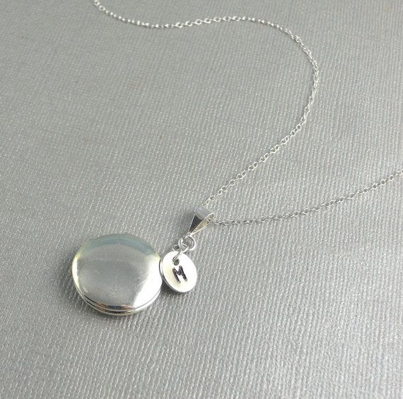 Large Locket Personalized Locket Sterling Silver Locket Necklace Push Present Photo Locket Long Locket Round Locket Custom Necklace