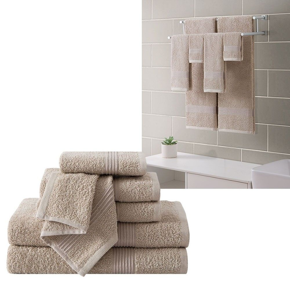 VCNY Ribbed Luxury Piece Bath Towel Set Downtown Collection - Luxury bath towel sets for small bathroom ideas