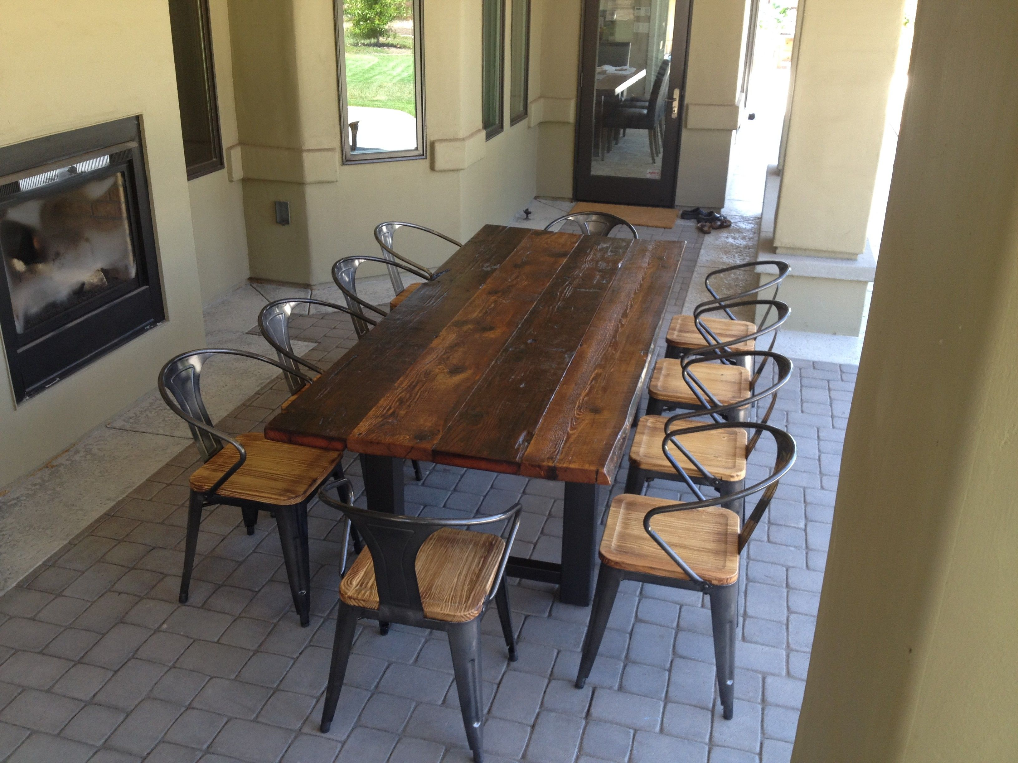 Round Wood Dining Room Table Sets And Dark Brown Hickory Wood