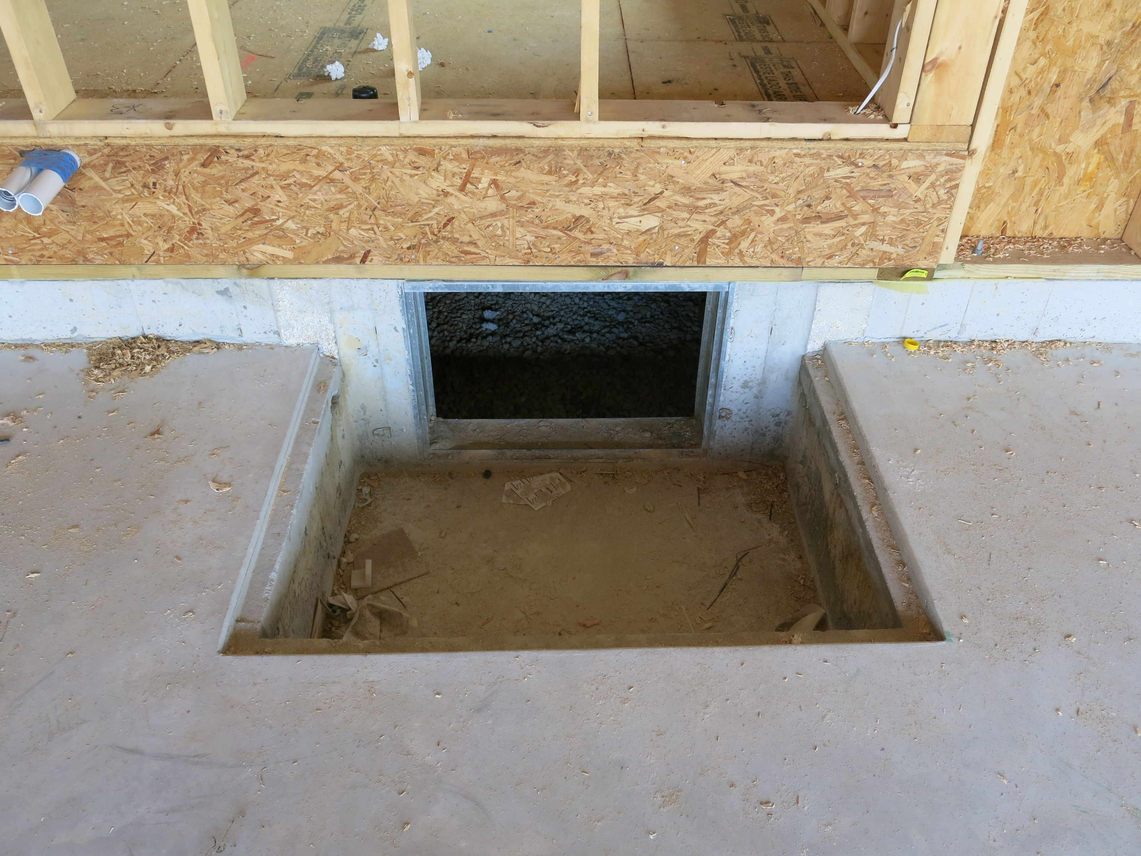 Interior crawl space door - Every Insight Home Has A Crawlspace Access Located In The Garage