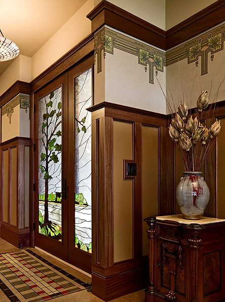 Wallpaper 1901 1945 All Things Doors Craftsman Craftsman Style