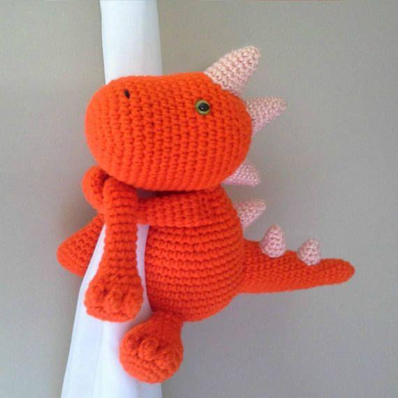 Dinosaurio/Dinosaur curtain tieback crochet PATTERN English and ...