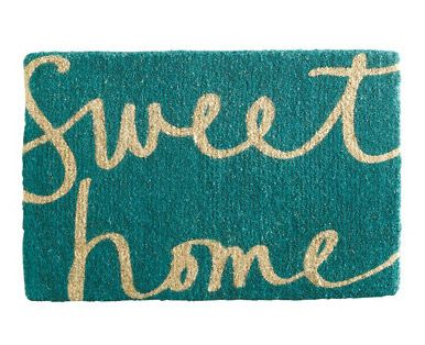 Sweet Home Doormat from Garnet Hill seen on the new home ec
