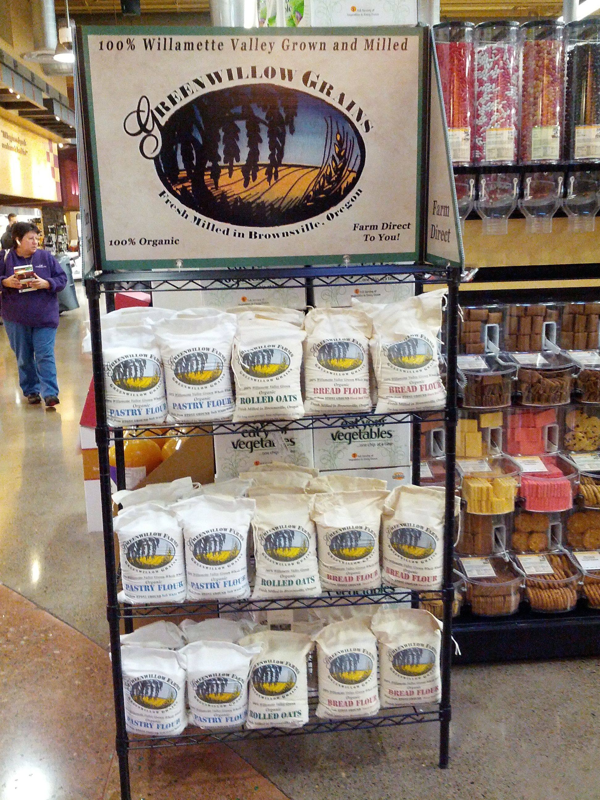 Our display at Market of Choice in Corvallis. Organic