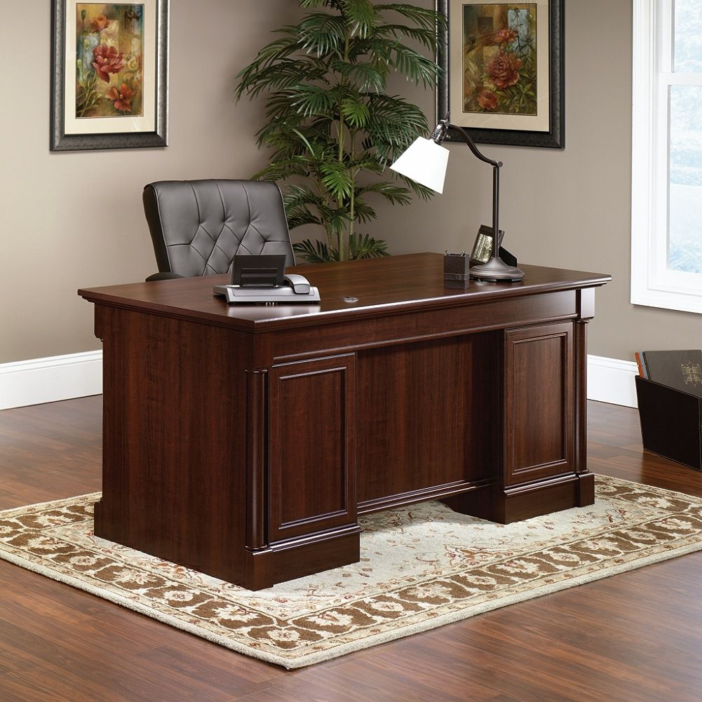 Incredible Sauder Palladia Collection Executive Desk Select Cherry By Home Interior And Landscaping Ponolsignezvosmurscom