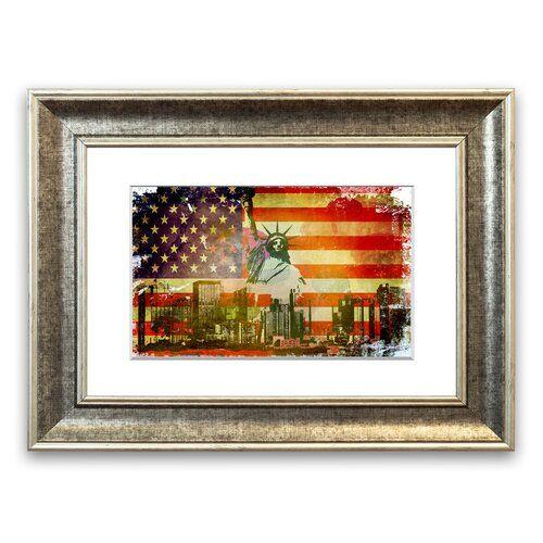 East Urban Home Gerahmtes Poster Amerikanische Flagge NYC | Wayfair.de #americanflag