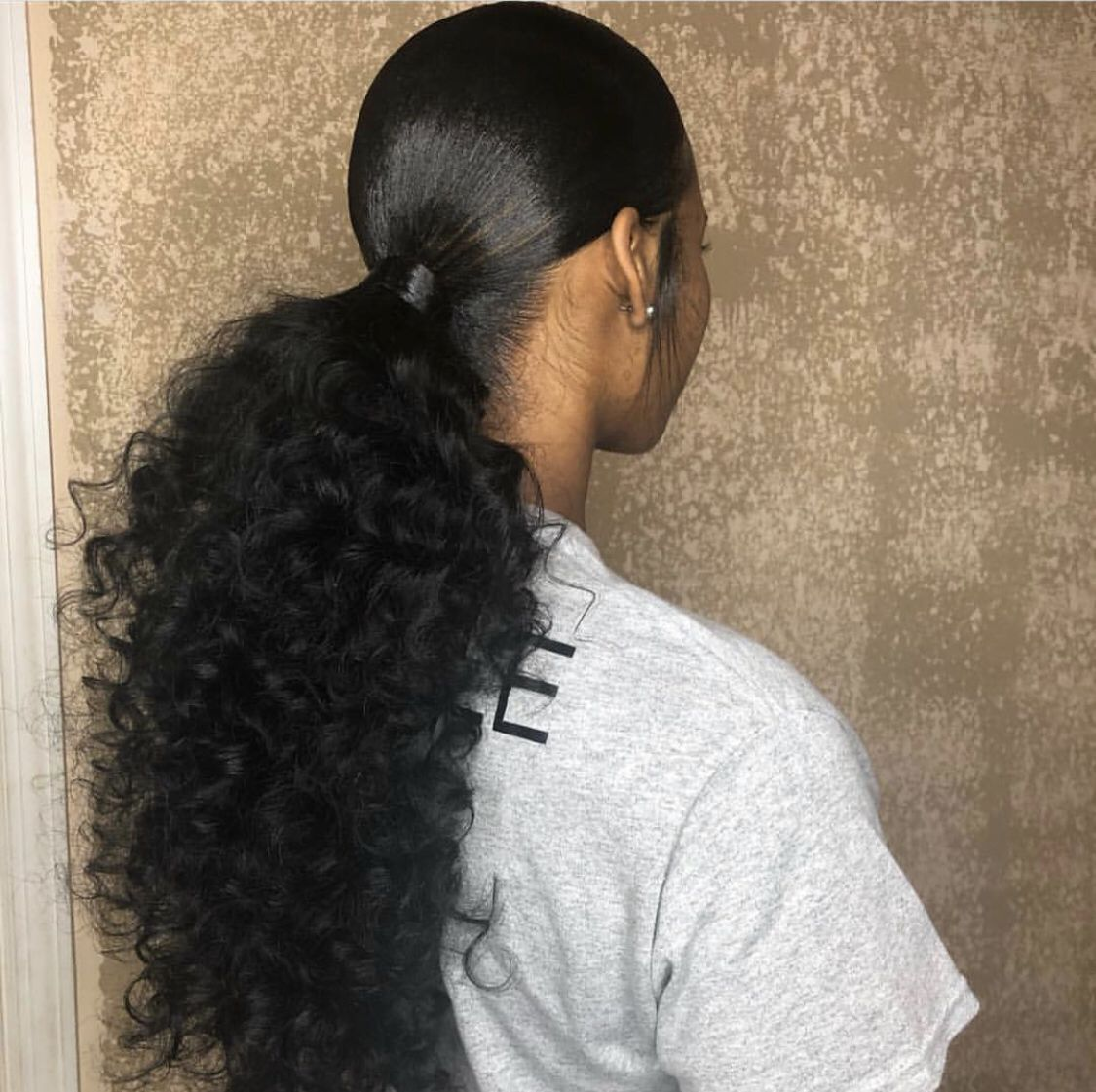 How To Do A Quick Weave Ponytail Step By Step At Home Hair Ponytail Styles Long Ponytail Hairstyles Weave Ponytail Hairstyles