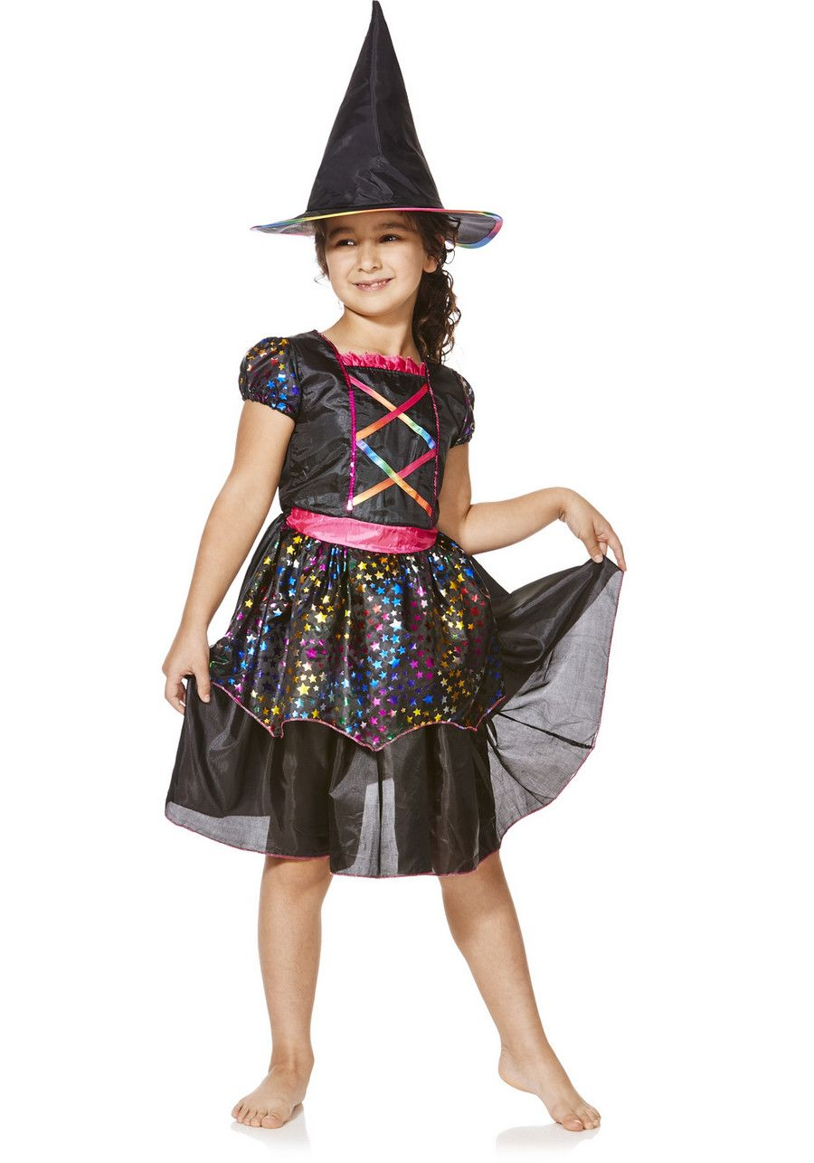 Clothing at Tesco   F&F Halloween Rainbow Witch Dress-Up Costume ...