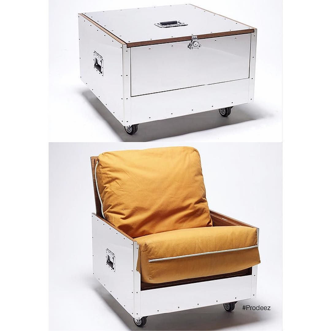 From Prodeez Product Design: Stainless Crates By Naihan Li. For More Info  And Images Visit Www.prodeez.com #furniture #crate #sofa #creative #design  #ideas ... Idea