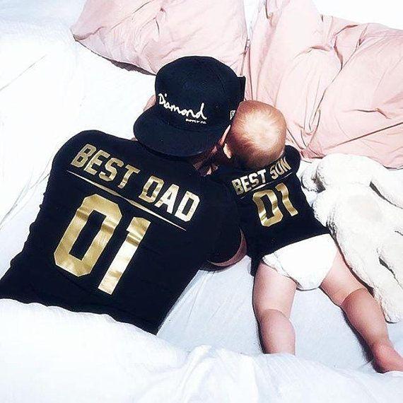 Zusammenpassende T-shirts Vater Sohn, Partner Vati Sohn t-shirts, zusammenpassende Hemden des Vatibabys, Vatertag Vater Sohn t-shirts #babyshirts