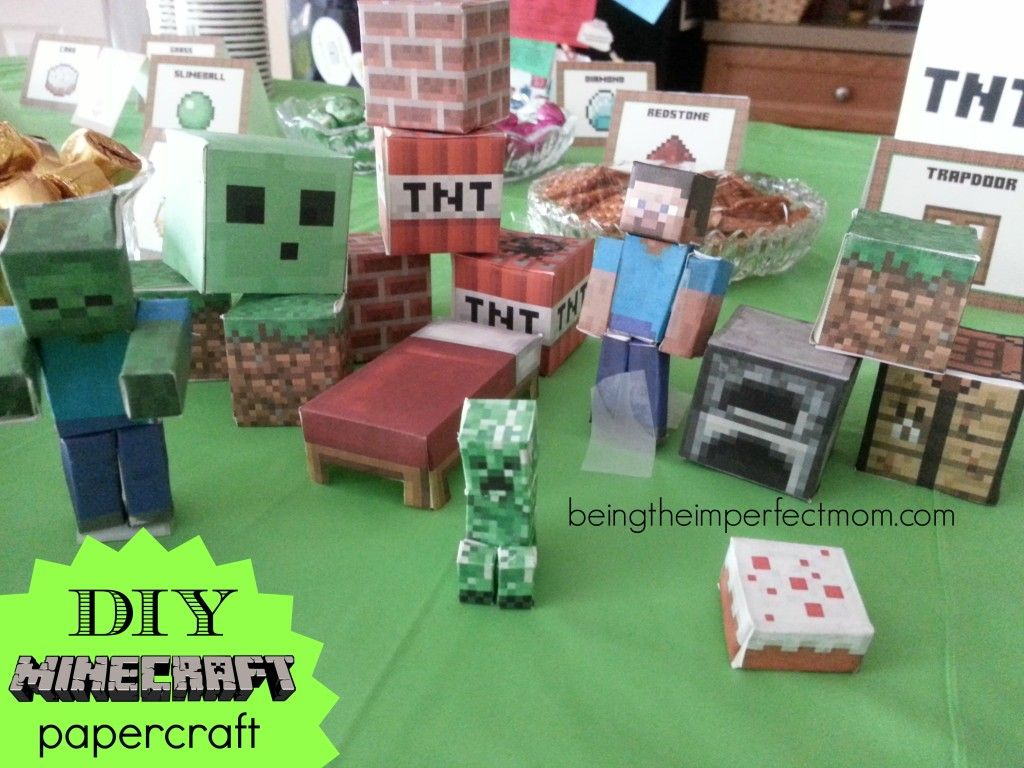 Minecraft Diy Papercraft With Free Printables