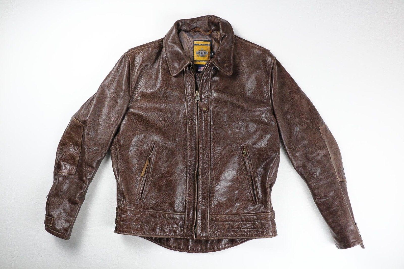 Schott Perfecto 585 Vintage Motorcycle Antique Brown Leather Jacket Medium 865 Leather Jacket Jackets Brown Leather Jacket [ 1066 x 1600 Pixel ]
